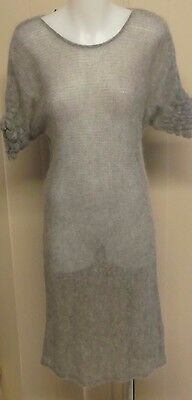 NU by Staff Woman Mohair Knit Dress in Light Grey - BNWT Size S (10)
