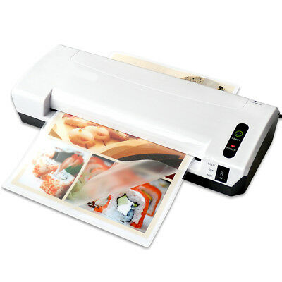 Hot/Cold Roller Thermal Laminator Laminating Machine Trimmer Home Office EU Plug