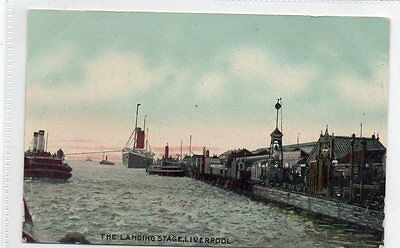 """""postcard The Landing Stage,liverpool"""""