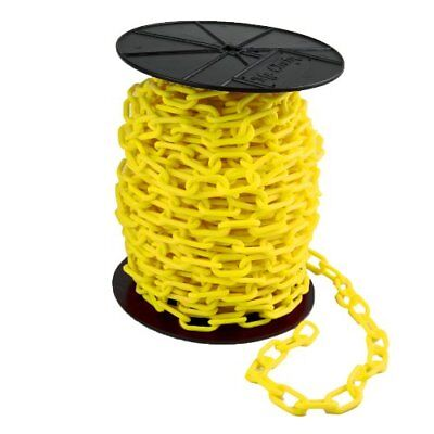 Mr. Chain Reel Plastic Barrier Chain, Yellow New
