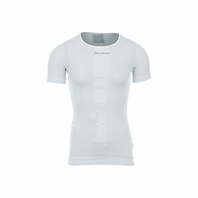 Unisex Santini 365 Short Sleeve Carbon Tee Base Layer For Cycling And Running
