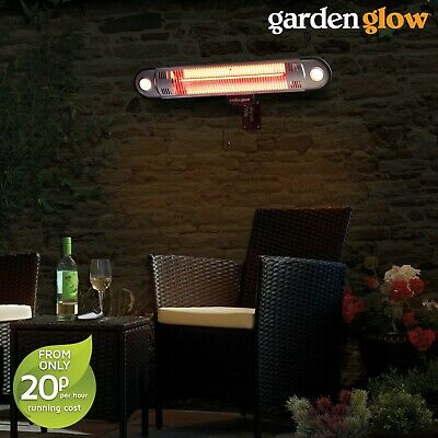 2000W Remote Controlled Wall Mounted Powerful Patio Garden Electric Heater