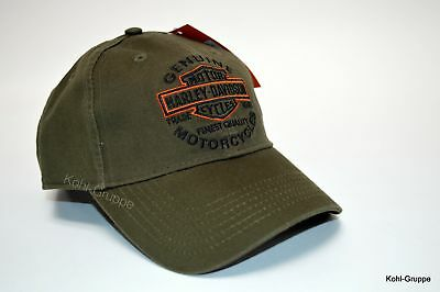 "HD Harley-Davidson Baseball - Cap / Kappe / Basecap ""Embroidered Bar & Shield"""""