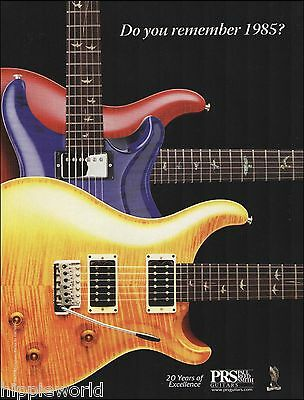 2005 PRS Guitar 20th anniversary advertisement 8 x 11 Paul Reed Smith ad print