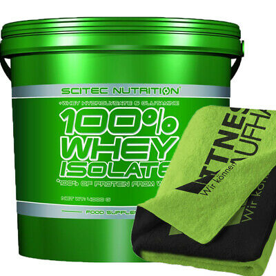 (22,49 EUR/kg) Scitec Nutrition Whey Isolate 4000g Eiweiss + Handtuch