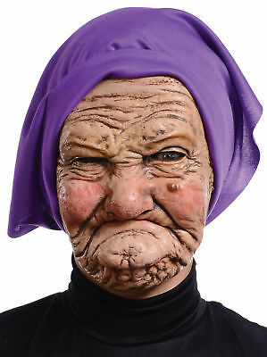Sour Faced Granny Latex Mask Adult Women's Costume Accessory Halloween Party