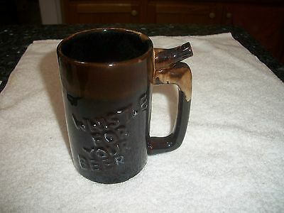 Vintage WHISTLE FOR YOUR BEER WET YOUR WHISTLE Tankard MUG