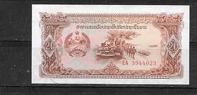 LAOS 28r REPLACEMENT 1979 UNCIRCULATED 20 KIP OLD BANKNOTE BILL NOTE PAPER MONEY