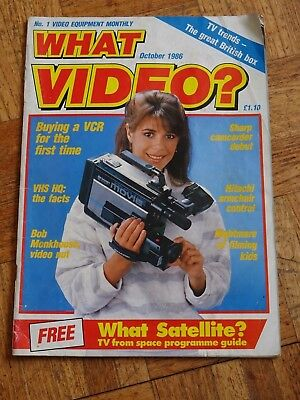 What Video Magazine October 1986 FREE POSTAGE