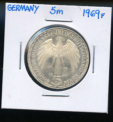 GERMANY 5 Mark 1969F - Silver - Gerhard Mercator DC122