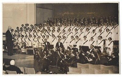 MUSIC Choir and Orchestra, RP Postcard Unused c1940s