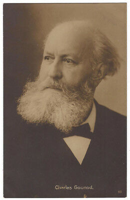 CHARLES GOUNOD French Composer, RP Postcard Unused