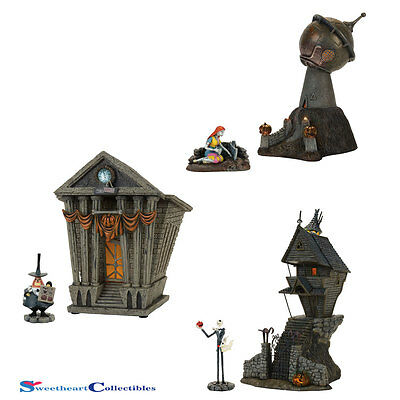 Dept 56 Disney Nightmare Before Christmas Village Town Hall Lab Jack 6