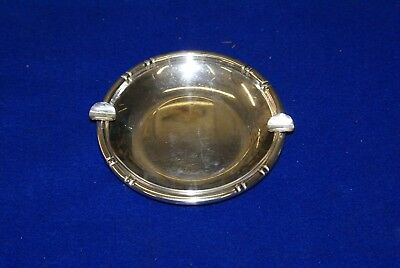 B&M Sterling Silver #940 Cigar Ashtray Weight is 128.4 Grams