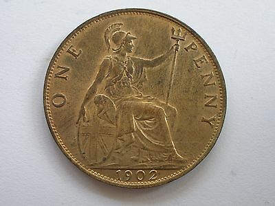 1902 Edward Vii Penny - Uncirculated With Lots Of Lustre - Uk Post Free