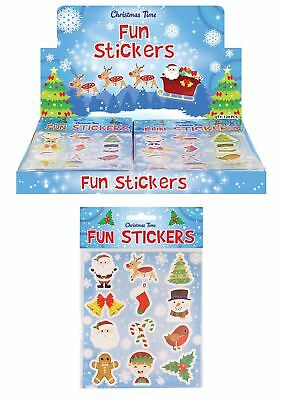 Christmas Stickers Xmas Kids Stocking Filler Party Goody Loot Bag Santa Toys