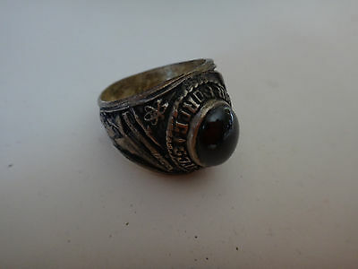 US AIR FORCE Silver Ring With A Dark Black Stone