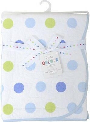 NEW East Coast Nursery Silver Cloud Elephant Spot Baby Coverlet - Blue