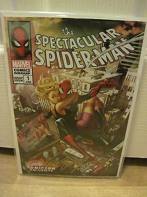Sdcc 2017 Exclusive J Scott Campbell Spectacular Spider-Man #1 Variant D Cover