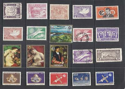 y2162 South America / Paraguay A Small Collection  Early & Modern Lhm Used