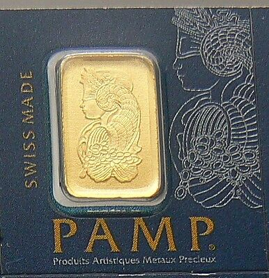 1 GRAM PAMP SUISSE MultiGram GOLD BAR .9999 PURE