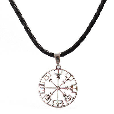Runes Compass Pattern Viking odin's Symbol of Norse Runic Pendant Necklace