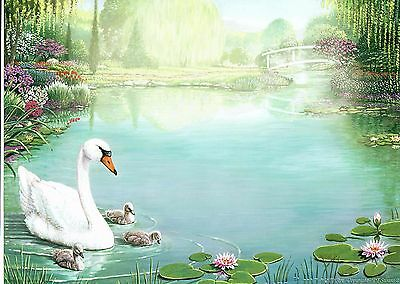 Swans Baby Print Personalized Name Poem