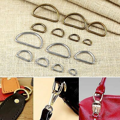 20Pcs Metal Square D Ring Buckles Leather Hand Bag Craft For Webbing Strapping