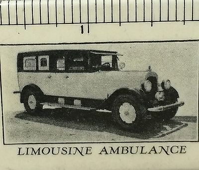 c. 1915 Undertaker MORTICIAN Limo AMBULANCE Advertising Ruler CELLULOID BLOTTER
