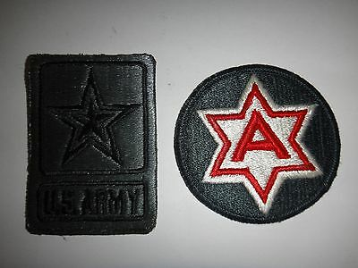 Set Of 2 US Army Merrowed Edge Patches: U.S. ARMY + US SIXTH ARMY