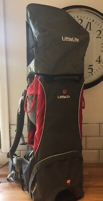 Little Life Cross Country S2 Grey And Red Child Baby Carrier Backpack & Sunshade