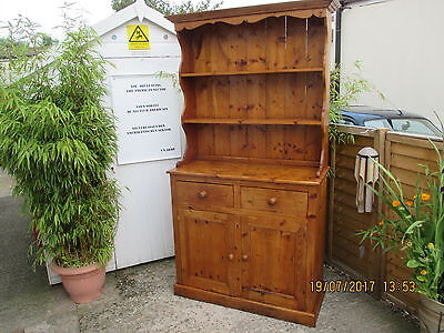 Edwardian Welsh Dresser   Old Pine In Good Strong Condition For Age