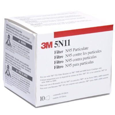 3M 46464 Particulate Filter 5N11, N95 Respiratory Protection (Pack of 10)