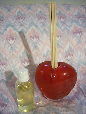 Avon Chocolate Raspberry Heart Shaped Reed Diffuser (2008) - NEW -LQQK