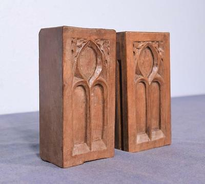 """*6"""" French Antique Gothic Carved Architectural Trim in Walnut"""