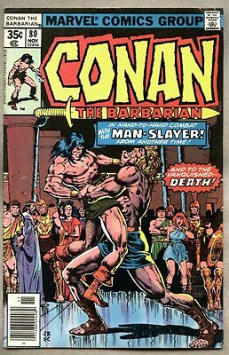 Conan The Barbarian #80-1977 vg John Buscema Howard Chaykin