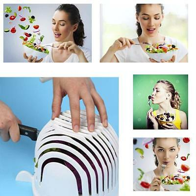 60 Second Salad Maker Cutter Bowl Healthy Fresh Salads Made Easy Tool Slicer NEW