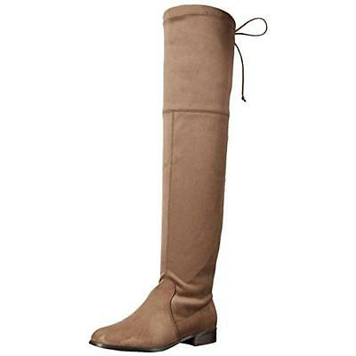Kensie 8501 Womens Theresa Taupe Over-The-Knee Boots Shoes 8 Medium (B,M) BHFO