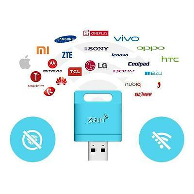 ZSUN Wifi Flash Micro SD USB 2.1 Smart TF Card Reader For Phone Tablet Pad L BBN