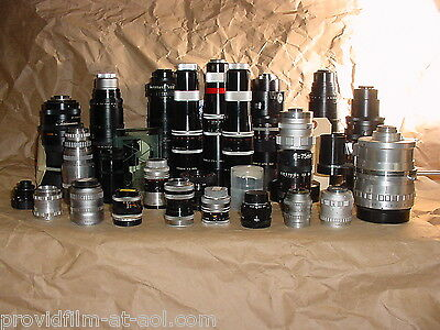 Lens lot CINE C MOUNT for Bolex Digi Black Magic, ADAPT2 MFT, NEX, N1 MAKE OFFER