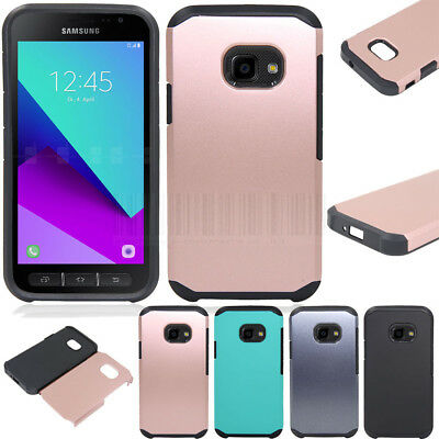 Slim Hybrid Hard Armor Case Shockproof Rubber Cover For Samsung Galaxy Xcover 4