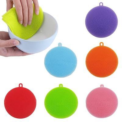 Silicone Sponge Kitchen Cleaning For Dish Washing Scrubber antibacterial Tool BA