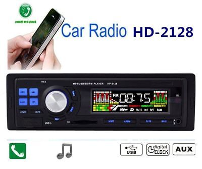 Bluetooth Car Stereo Audio MP3 Player In-Dash SD/USB/Aux Input Receiver Radio AO