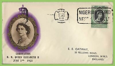 Nigeria 1953 QEII Coronation on BPA First Day Cover