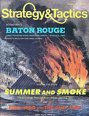 Stategy & Tactics with BATON GOUGE game inc. Map & counters (unpunched) ref10...