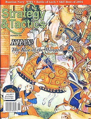 Stategy & Tactics with KHAN: The Rise of the Mongols game inc. Map & counters...