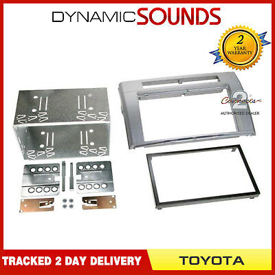CT23TY13 Stereo Double Din Fascia Panel Silver For Toyota Corolla Verso 2005>