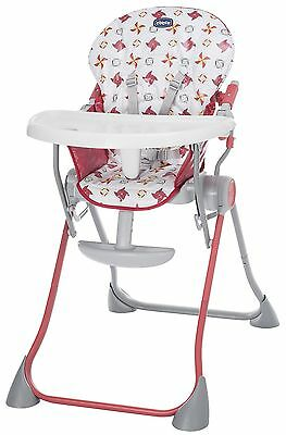 NEW Chicco Pocket Meal Portable Highchair - Red