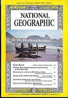 NATIONAL GEOGRAPHIC SEP 1962 X-15 Missile Brazil Hoatzin Seattle Fair Artists