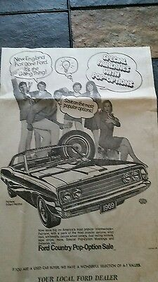 1969 Ford Fairlane Newspaper Ad